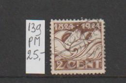 (A627.13) Plaatfout NVPH 139 PM  Gestempeld CW 25,- - Abarten Und Kuriositäten