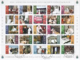"""Vaticano - 2003 -  """"Gli Anni Del Pontificato Di G. Paolo II"""" In Foglietto - Blocks & Sheetlets & Panes"""