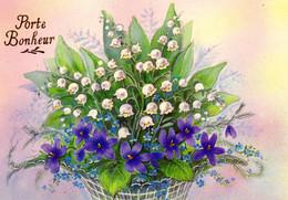 CP Fete Voeux Porte Bonheur Bouquet Muguet 1 Mai 1992 - Otros