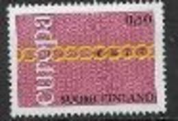 Finlande 1971 Neufs ** N° 654 Europa - 1971