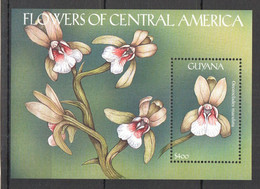 WW884 GUYANA FLORA NATURE FLOWERS OF CENTRAL AMERICA ORCHIDS 1BL MNH - Orchideen