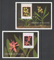 A062 UGANDA FLORA FLOWERS ORCHIDS OF UGANDA 2BL MNH - Orchideen