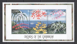A103 DOMINICA FLORA NATURE FLOWERS ORCHIDS OF THE CARIBBEAN 1KB MNH - Orchideen