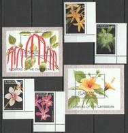 A151 ST. VINCENT FLOWERS OF THE CARIBBEAN FLORA !!! 2BL+1SET MNH - Orchideen