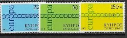 Chypre 1971 Neufs ** N° 351/353 Europa - 1971