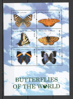 VV681 2011 NEVIS BUTTERFLIES OF THE WORLD FLORA & FAUNA KB MNH - Butterflies