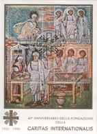 """Vaticano - 1990 - """"Caritas Internazionale"""" In Foglietto Con Annullo - Blocks & Sheetlets & Panes"""