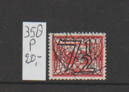 (A627.24) Plaatfout NVPH 358 P Gestempeld CW 20,- - Abarten Und Kuriositäten