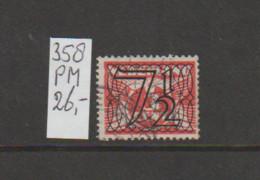(W627.25) Plaatfout NVPH 358 PM Gestempeld CW 26,- - Abarten Und Kuriositäten
