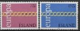 Islande 1971 Neufs ** N° 404/405 Europa - 1971
