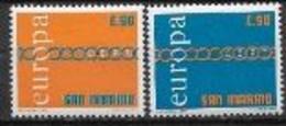 Saint Marin 1971 Neufs ** N° 782/783 Europa - 1971