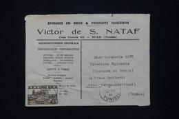 TUNISIE - Enveloppe Commerciale De Sfax Pour Nice En 1946 - L 95584 - Covers & Documents