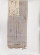 CAMBIALE  PRIMERA DE CAMBIO  -  GENES  1872  CON  MARCA  FRANCESE - Bills Of Exchange