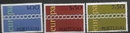 Portugal 1971 Neufs ** N° 1107/1109 Europa - 1971