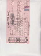 CAMBIALE  ASSEGNO BANCARIO   -  BANCO  ITALO-BELGA . SANTOS 1928 SPETT.  CREDITO ITALIANO ,MARCHE BRASILE - Bills Of Exchange