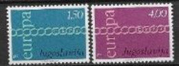 Yougoslavie 1971 Neufs ** N° 1301/1302 Europa - 1971