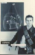 F30 / CARTE CPM Publicitaire PUB Card Cart' Com MODE VIAHERO  Sacs Et Accessoires HOMME - Fashion