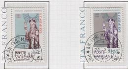 """Vaticano - 1984 - """"5° Centenario Della Morte Di San Casimiro Di Lituania"""" S. Cpl 2v Annullo 1° Giorno Di Emiss. - Used Stamps"""