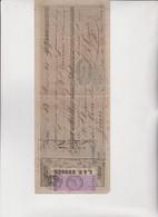 CAMBIALE  - PRIMA DI CAMBIO.  ROMA  1865. DITTA  GUGGER .  CON MARCA DA 3,50  LIRE - Bills Of Exchange