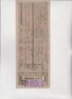 CAMBIALE  - PRIMA DI CAMBIO.  ROMA  1865. DITTA  GUGGER .  CON MARCA DA 3,50  LIRE - Cambiali