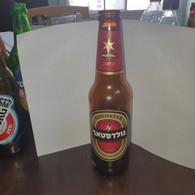 Israel-goldstar Beer Bottle Glasse-dark Lager Beer-(100ml)-(4.9%)-used Bottle Glasse - Beer