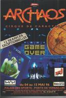 F30 / CARTE CPM Publicitaire PUB Card Cart' Com Théâtre ARCHAOS Cirque De Caractère - Zirkus