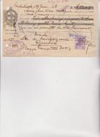 CAMBIALE  - CONSTANTINOPOLI 1928 .CON MARCA TURCA E  ITALIANE - Bills Of Exchange