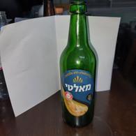 Israel-Malt Beer Without Alcohol-Malt (500 Ml)-()-used Bottle Glasse - Beer