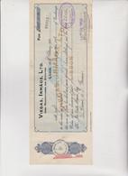 CAMBIALE  -  ASSEGNO .  VIEGAS, IRMAOS , LIMITED,  -  LISBON  1930 . CON MARCHE  ITALIANE - Bills Of Exchange