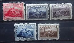 LUXEMBURG  1921     Nr. 134 A - 136 A    Tand. 11 1/2       Scharnier *    CW 55,00 - Ongebruikt