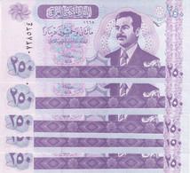 IRAQ 250 DINAR 2001 2002 P-88 LOT X5 UNC NOTES */* - Iraq