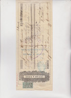 CAMBIALE  - SOLA  DI CAMBIO.  GENOVA .1875   . CON MARCA ITALIANA  E  MARCA  INGLESE - Bills Of Exchange