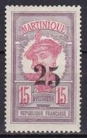 Martinique N°85a + 85 Neuf Sans Charnière (chiffres Décalés) - Nuovi