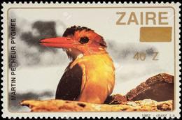 ZAIRE STAMP - African Pygmy Kingfisher ~ Martin Bird MNH Aves Fish Fauna (**) - Other