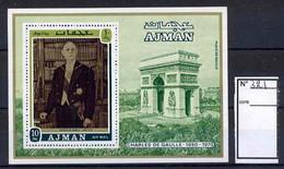 102 Charles De Gaulle - Ajman - Bloc 321 Neuf ** MNH - De Gaulle (Generale)