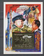 172 Charles De Gaulle - Neuf ** MNH Guinée (guinea) OR (gold Stamps) Bloc - De Gaulle (Generale)