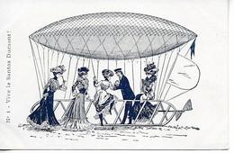 Aviation Publicité Champagne Mercier Epernay Vive Le Santos Dumont  ....G - Zeppeline