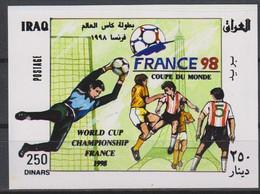 Soccer World Cup 1998 - IRAQ - S/S Imp. MNH - 1998 – Francia
