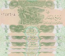 IRAQ 1/4 DINAR 1993 P-77 LOT X5 UNC NOTES - Iraq