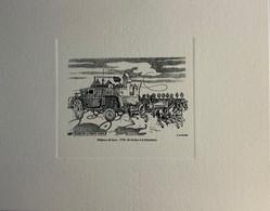 4 Gravures Offertes Aux Visiteurs De L'imprimerie De PERIGUEUX - Documentos Del Correo