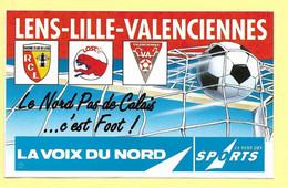 AUTOCOLLANT  LA VOIX DU NORD  DES SPORTS LENS LILLE VALENCIENNES LOSC - NORD PAS-DE-CALAIS FOOT - FOOTBALL - JOURNAL - Adesivi