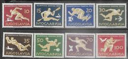 Yugoslavia 1956  Sc#461-8  Olympics Set  MLH  2016 Scott Value $107.60 - Ungebraucht