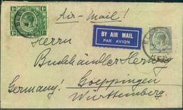 1931, Air Mail From ELDORET To Göppingen, Germany - Protectorados De África Oriental Y Uganda