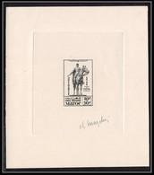 733 Epreuve D'artiste (artist Proof) MAROC PA 59 Statue Lyautey Casablanca Signe (signed Autograph) Cheval (horse) - Nuovi