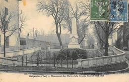 CPA 83 BRIGNOLES MONUMENT DES MORTS DE LA GRANDE GUERRE 1914 1918 - Brignoles