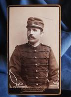 Photo CDV Chateauneuf à Avignon  Portrait Militaire (Félix Chaix) S/Lieut. 117e Inf. Territ.  CA 1885 - L545 - Ancianas (antes De 1900)