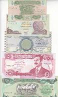 IRAQ 1/4 1/2 1 5 25 DINAR 1990 1992 1993 P-74 77 78 79 80 UNC SET - Iraq