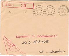 ENVELOPPE EN FRANCHISE MILITAIRE BASE AERIENNE 118 MONT DE MARSAN SECAP MONT DE MARSAN AIR - Sellos Militares Desde 1900 (fuera De La Guerra)