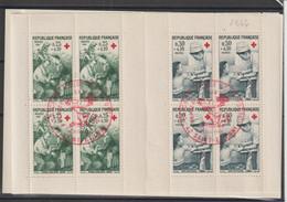 France Carnet Croix Rouge 1966 Oblitération 1er Jour - Red Cross