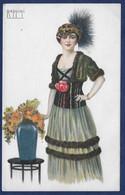 Rappini,  Lady In Green Dress. - Andere Illustrators